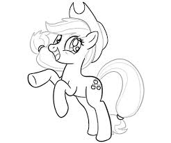 pony applejack coloring pages getcoloringpages