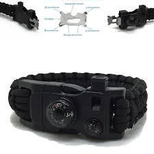 paracord bracelet buckle with whistle images 15in1 survival flint fire starter paracord whistle gear buckle jpg