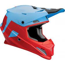 thor motocross helmets thor sector level motocross helmet blue red 2018 mxweiss