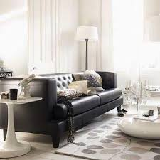 Living Room Decorating Ideas With Black Leather Furniture Lovely Ideas For Tufted Leather Design Black Leather Sofa