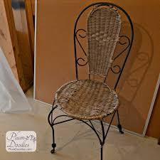 Wicker Bistro Chairs How To Refurbish Wicker Bistro Chairs Plum Doodles