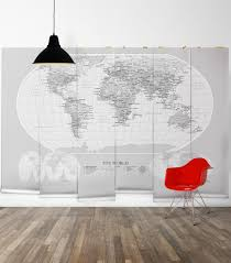 modern world map wallpaper mural milton u0026 king