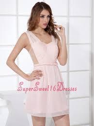 light pink dama dresses pink straps mini length empire mini length 2013 dama dress