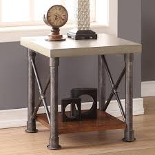 legends furniture end tables legends furniture steunk collection zspk 4100 steunk end table