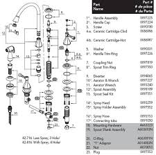 glacier bay kitchen faucet parts glacier bay faucet parts diagram pegasus 42 716 parts vision