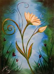 in this i ll be showing you how to paint an abstract flower