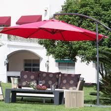 Offset Umbrella With Screen by Amazon Com Abba Patio 10 Feet Offset Cantilever Umbrella Outdoor