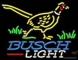 busch light neon sign busch light pheasant neon sign neonsigns usa inc