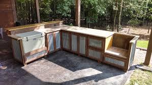 outdoor kitchen cabinet doors diy outdoor rustic cooking station and bar rustic patio