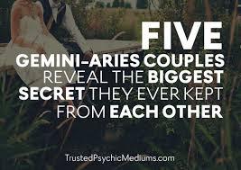 five gemini aries couples reveal biggest secrets