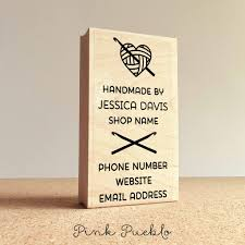personalized crochet business card st handmade by business