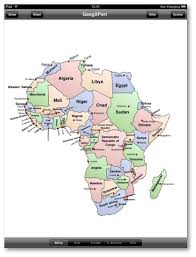africa map with country names and capitals geogxpert for