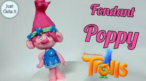 how to make fondant poppy cake topper tutorial trolls youtube