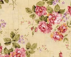 Fabric Shabby Chic by Floral Fabric Etsy