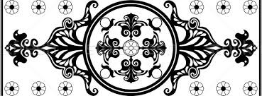 black and white nouveau ornament vector illustration milan