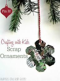 handmade kid ornaments scrap ornament and ornament tutorial