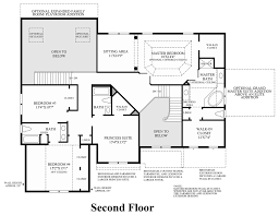 2nd Floor Plan Design Toll Brothers At Montcaret The Raphael Home Design