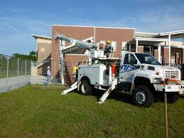 electric company truck weeki wachee high environmental awareness withlacoochee