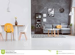 Grey Yellow Chair Yellow Chair In Living Room Stock Photo Image 98767318