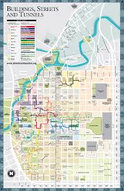 Houston Map Zip Codes by A Detailed Map Of The Underground Tunnel System Beneath Downtown