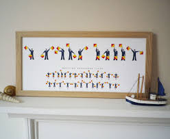 Semaphore Flag I Or We Love Daddy Semaphore Flags Print Glyn West Design