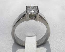 titanium wedding rings uk 0 25ct princess cut diamond set titanium engagement ring