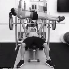 Anderson Silva Bench Press Tom Daley Shows Off His Strength As He Bench Presses Fellow Great