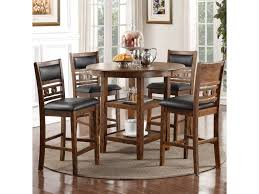 new classic gia counter height dining table and chair set with 4 new classic gia counter height dining table and chair set with 4 chairs and circle motif great american home store dining 5 piece sets