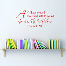 aliexpress com buy christian wall decals quotes great is thy