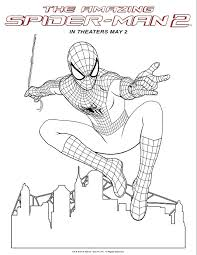 spiderman coloring pages print spiderman