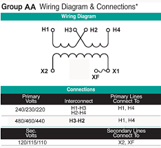 0 75 kva transformer primary 220 230 240x440 460 480 secondary 110
