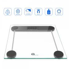 Bathroom Scale Battery 1byone Digital Body Weight Bathroom Scale 180kg 400lb