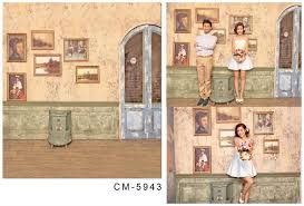 cheap photography backdrops customsize 150cmx220cm vintage wall background painting for