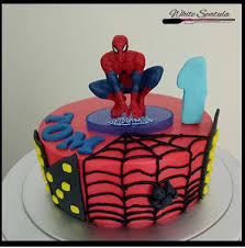 spiderman buttercream fresh baked cake singapore white spatula