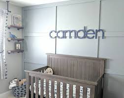 Decorating Wooden Letters For Nursery Nursery Wall Letters Etsy