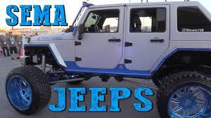 badass blue jeep jeeps of sema 2016 youtube