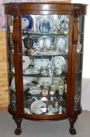 Vintage China Cabinets 1890 U0027s Oak Lions Head China Cabinet W Claw Feet Southwest