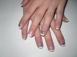 photo ongles gel deco french ongle gel 15 ongles en gel uv french rose déco foil