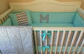 Aqua And Grey Crib Bedding Gray And Aqua Crib Bedding Bed Linen Gallery