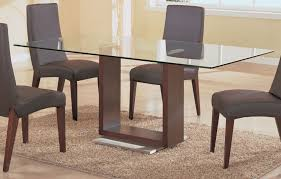 Bases For Glass Dining Room Tables Interesting Glass Dining Table With Oak Base In Interior Home