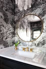 Black And White Wallpaper For Bathrooms - 9 easy ways to update your bathroom this weekend powder room