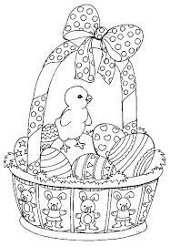 coloriage paques paniers à colorier allofamille
