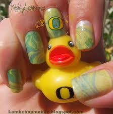 oregon duck water marble nail art oregon duck nail designs biz