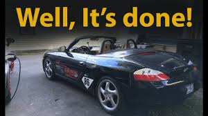 custom 2005 porsche boxster porsche boxster s engine swap complete and first drive m96 3 2