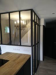 cloison vitree cuisine salon cloison vitre cuisine transition entre galerie et cloison vitrée