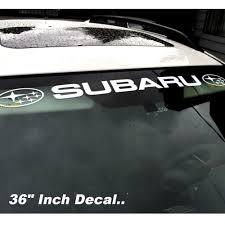 subaru windshield decal subaru rally windshield banner graphic decal sticker wrx sti