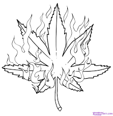 drawn marijuana coloring page pencil and in color drawn