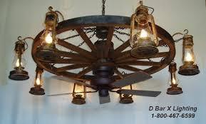 Wagon Wheel Lighting Fixtures Ww037 Rustic Wagon Wheel Chandelier Light Fixture With Lantern