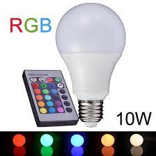 best new e27 10w rgb led lamp 110v 220v change rgb led bulb light