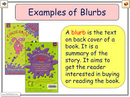blurb examples by chrisrichards teaching resources tes
